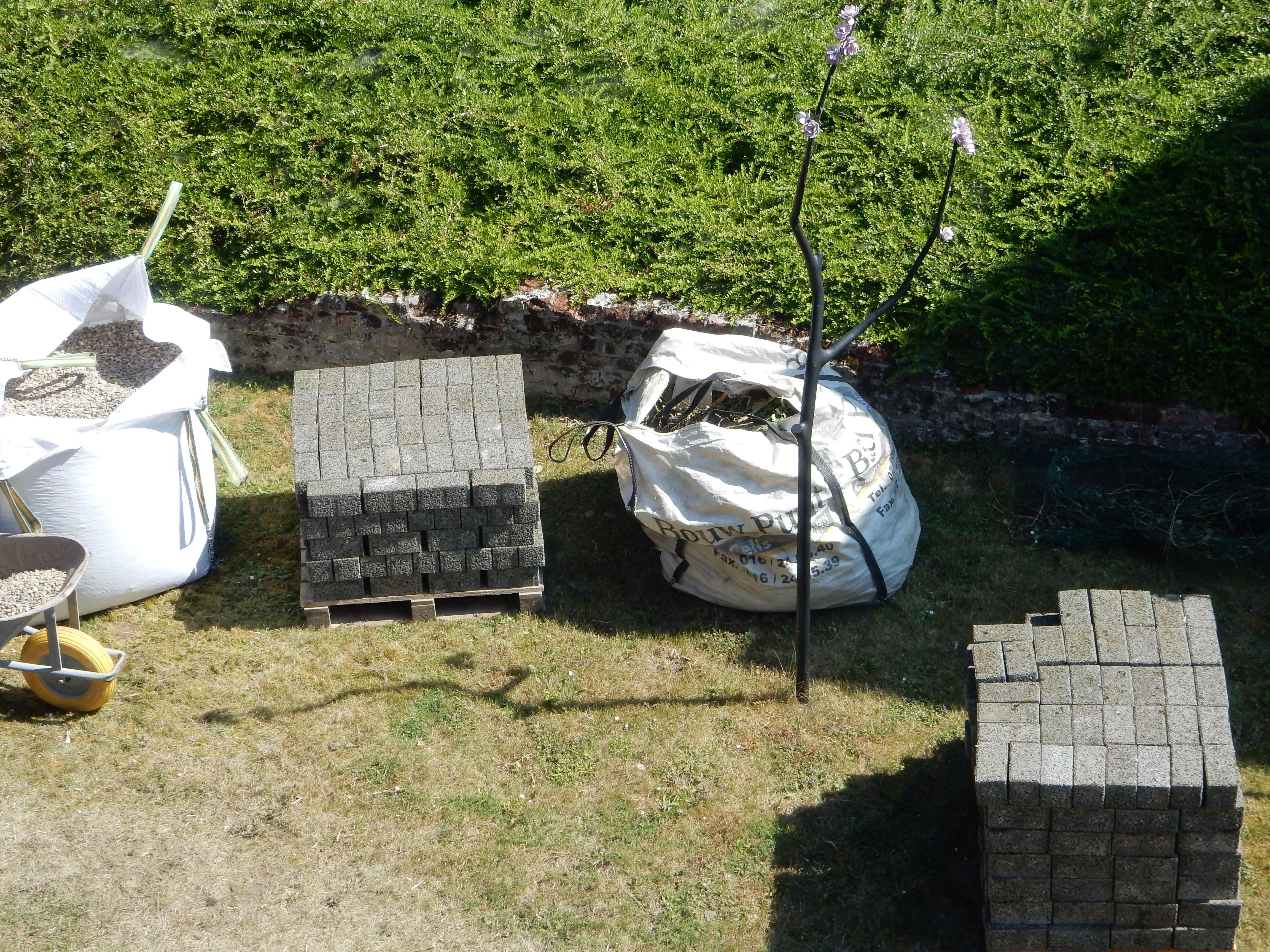 tuin BR tijdens de werken 1